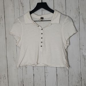 Free People We the Free cropped collared shirt